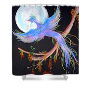 Luna Phoenix Shower Curtain