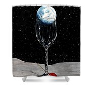 Lunar Cocktail Shower Curtain