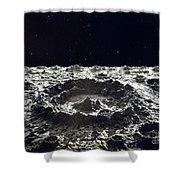 Lunar Crater, 1874.  Shower Curtain by Granger