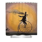 Lunar Cycle Shower Curtain