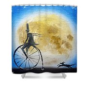 Lunar Cycle No 2 Shower Curtain
