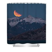 Lunar Eclipse In Lofoten Shower Curtain