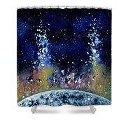 Lunar Genesis Shower Curtain