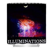 Lunar Illumanations Epcot Shower Curtain