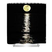 Lunar Lane Shower Curtain