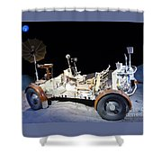 Lunar Rover Shower Curtain