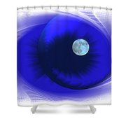 Lunarblue Shower Curtain