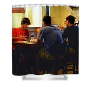 Lunch At The Cafe Downtown Shower Curtain