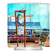 Lunch At The Clam Bar Shower Curtain