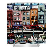 Lunch At The Harbor Shower Curtain