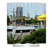 Lunch At The Pier Shower Curtain