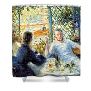 Lunch At The Restaurant Fournaise, The Rower's Lunch Shower Curtain