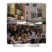 Lunch In Brighton Shower Curtain by Trevor Wintle