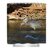 Lunch On The Neuse River Shower Curtain by George Randy Bass