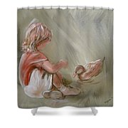 Lunch Pals Shower Curtain