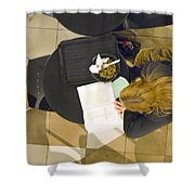 Lunch With A Book Shower Curtain