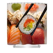 Lunch With  Sushi  Shower Curtain