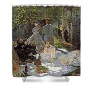 Luncheon On The Grass, Centre Panel Shower Curtain