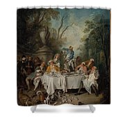 Luncheon Party In A Park Shower Curtain
