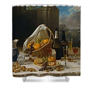 Luncheon Still Life, At And By John F. Francis Shower Curtain