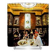 Luncheon Trays Shower Curtain