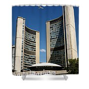 Lunchtime At Nathan Philips Square Toronto City Hall Shower Curtain