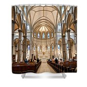 Lunchtime Mass At Saint Paul Cathedral Pittsburgh Pa Shower Curtain