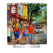 Lunchtime On Mainstreet Shower Curtain