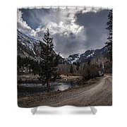 Lundy Lake Road Shower Curtain
