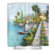 Lungolago Shower Curtain by Guido Borelli