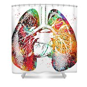 Lungs And Heart Shower Curtain