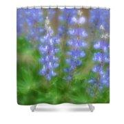 Lupine Soft Focus Shower Curtain