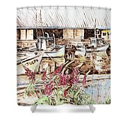 Lupines At Murray Harbour Shower Curtain