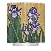 Luscious Iris Shower Curtain