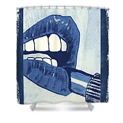 Luscious Lips Sink Ships Shower Curtain