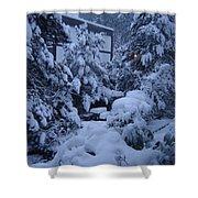 Luscious Snowfall Shower Curtain