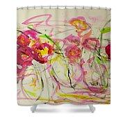 Lush Flowers Shower Curtain