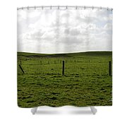 Lush Green Grass On The Cliffs Of Moher Shower Curtain