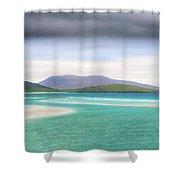 Luskentyre Beach On The Scottish Isle Of Harris .  Shower Curtain