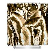 Lustrous Golden Tulip Shower Curtain