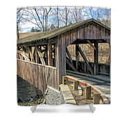 Luther Mills Bridge Shower Curtain