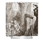Luther Preaching In The Old Wooden Church At Wittemberg Shower Curtain