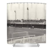 Luton Town - Kenilworth Road - Bobbers Stand West Side 1 - Bw - August 1969 Shower Curtain