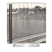 Luton Town - Kenilworth Road - Kenilworth Terrace North Goal 1 - Bw - August 1969 Shower Curtain