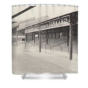 Luton Town - Kenilworth Road - Oak Road Terrace South Goal 1 - Bw - April 1969 Shower Curtain