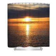 Lutsen Shore Sunrise Two Shower Curtain
