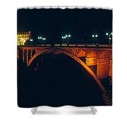 Luxembourg Bridge Shower Curtain