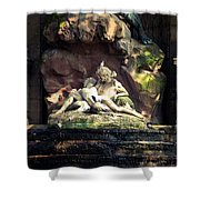 Luxembourg Park Lovers Shower Curtain