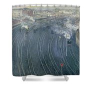 Luxembourg Station Shower Curtain by Henri Ottmann