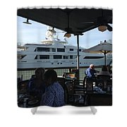 Luxurious Boat In Galveston  Shower Curtain